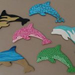 Wooden Dolphin Magnets Martha Bechtel