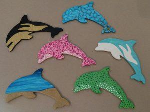 Wooden Dolphin Magnets Martha Bechtel